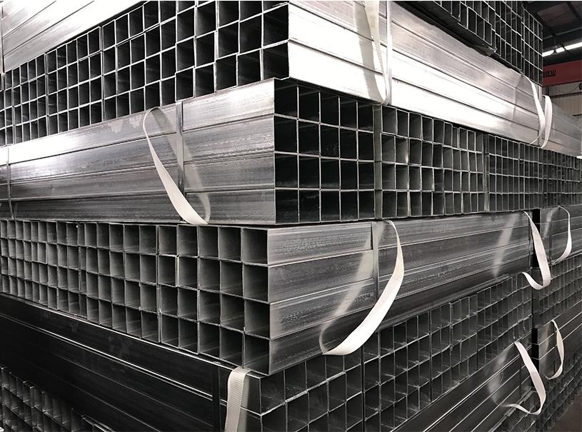 Tuyau d'acier carré et rectangulaire pré-galvanisé de section pour la construction