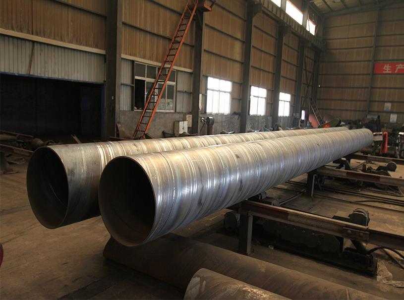 Tubes en acier soudés en spirale API 5L SSAW pour la construction